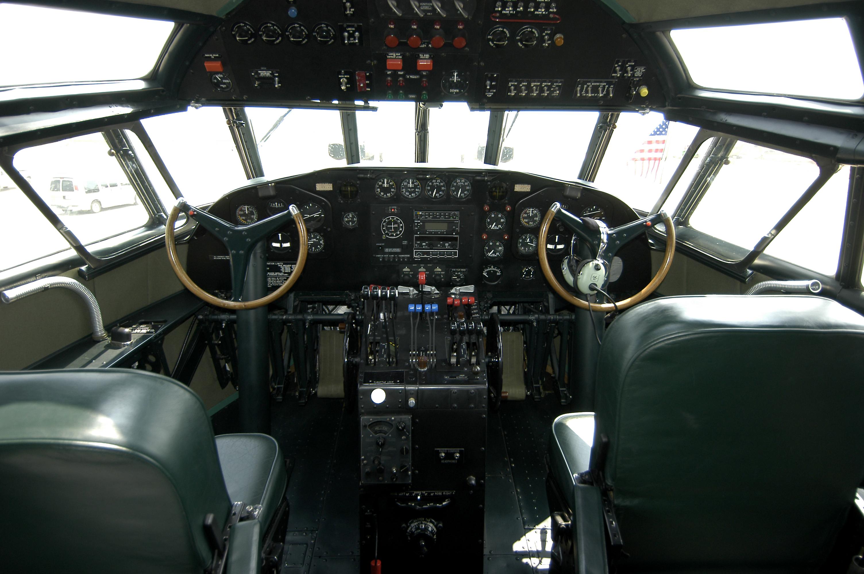 Boeing S-307 Stratoliner Cockpit