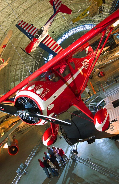 Little Butch, Boeing Aviation Hangar with visitors