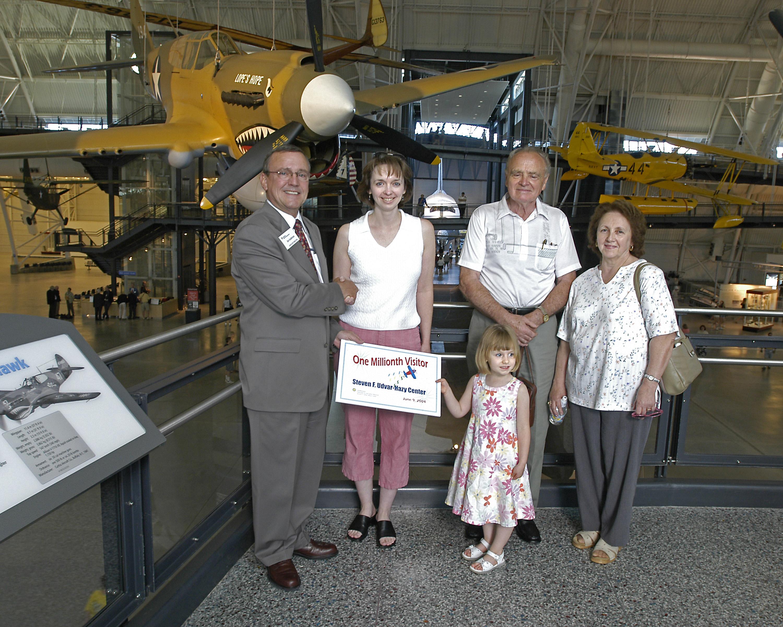 Steven F. Udvar-Hazy Center One Millionth Visitor