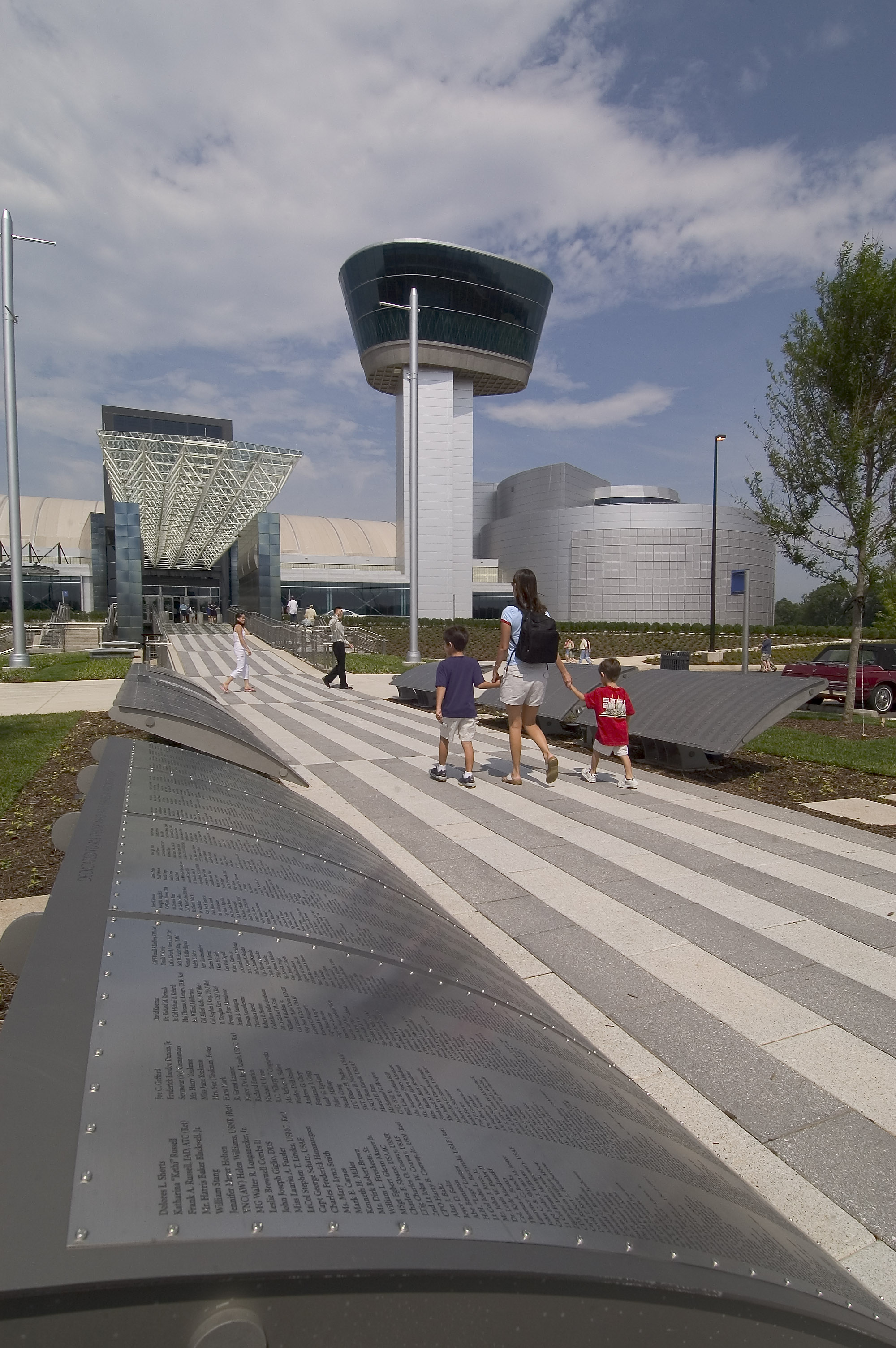 The Wall of Honor Outside the Udvar-Hazy Center
