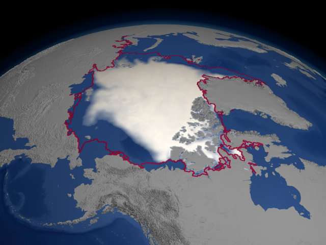 2004 September Minimum Sea Ice Concentration