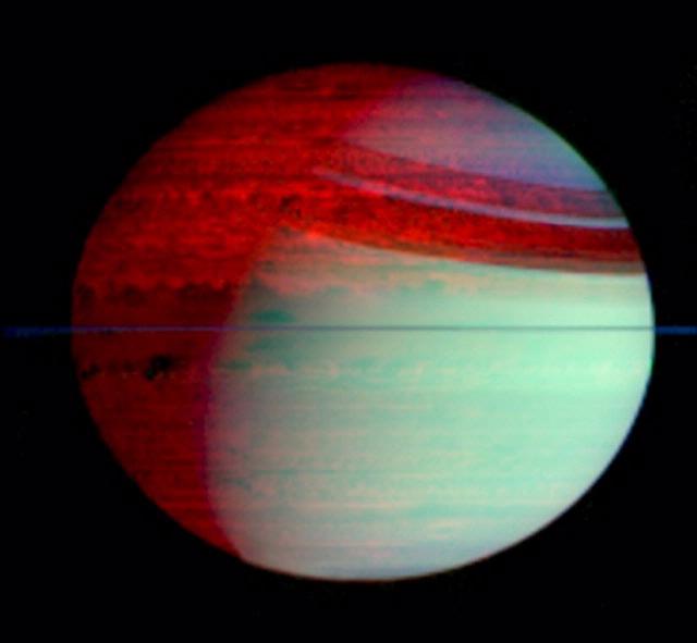 Saturn's Silhouetted Clouds - Cassini Exhibit