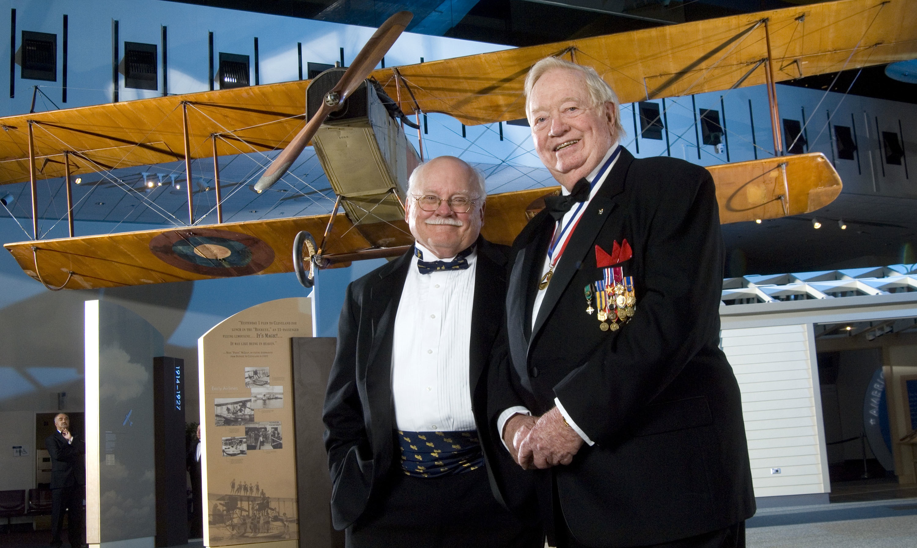 Joseph Kittinger poses with Tom Crouch