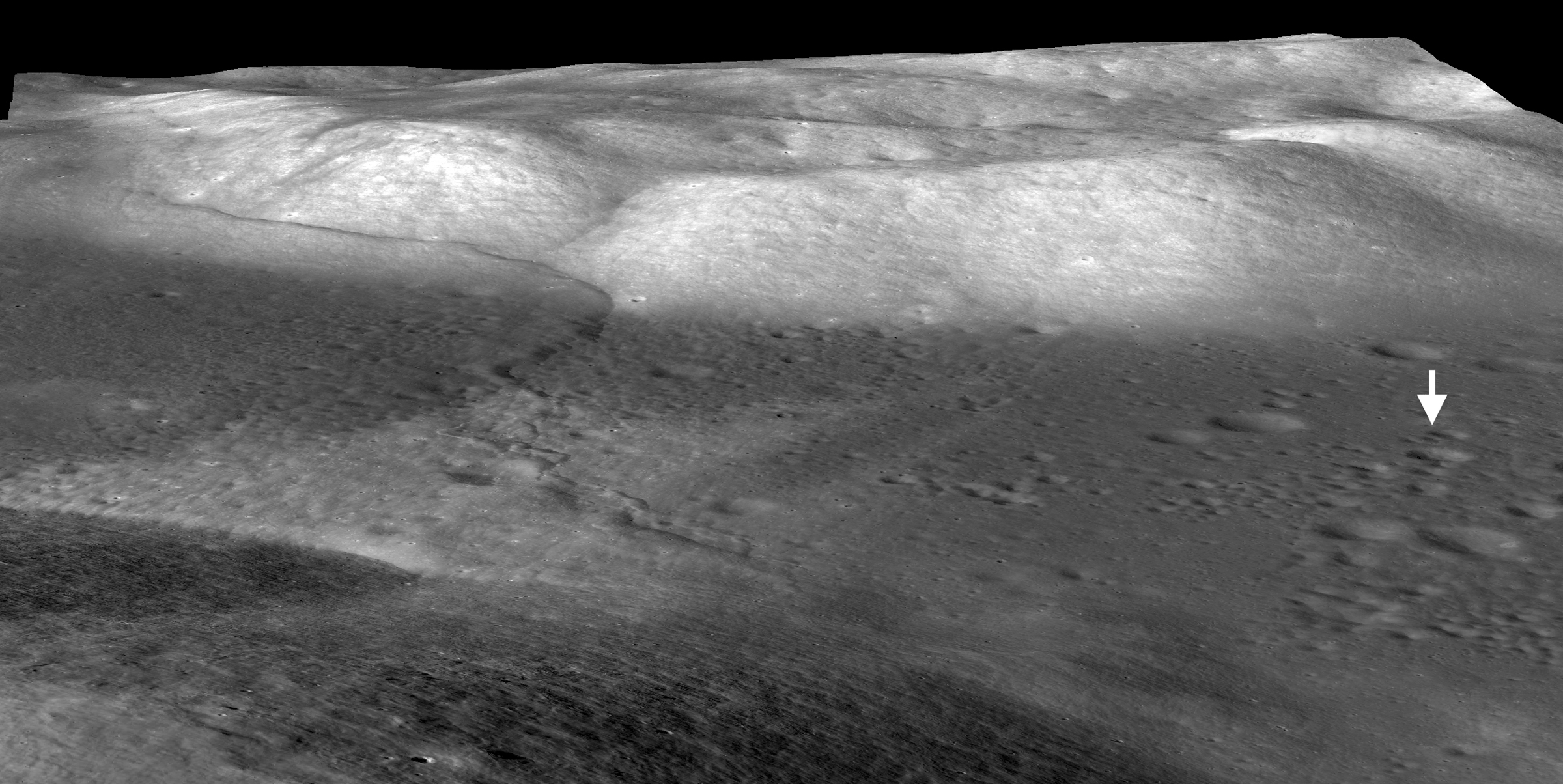 Image of Lee-Lincoln Scarp on the Moon
