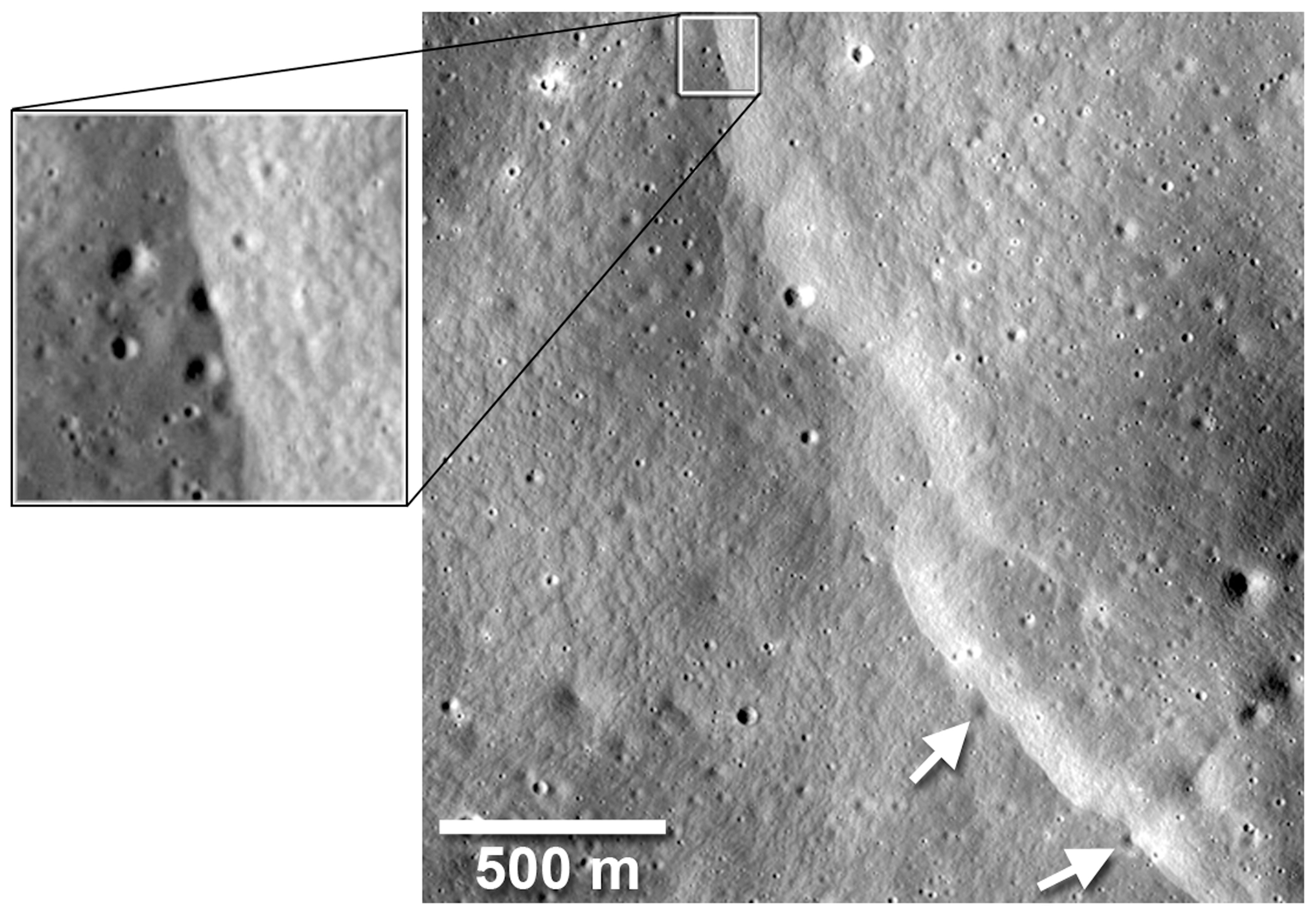 Image illustrating Crosscut Craters with inset