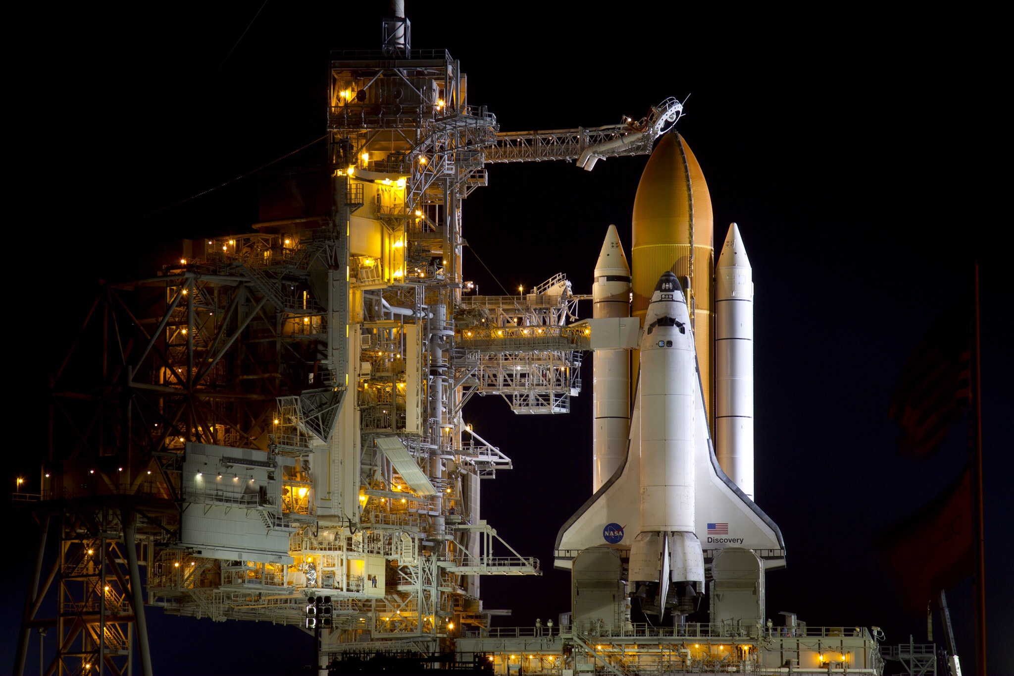 Space Shuttle <i>Discovery</i> STS-133 on Launch Pad