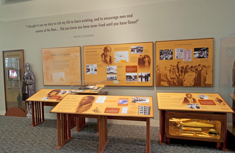 """Black Wings Display in the """"Barron Hilton Pioneers of Flight Gallery"""""""