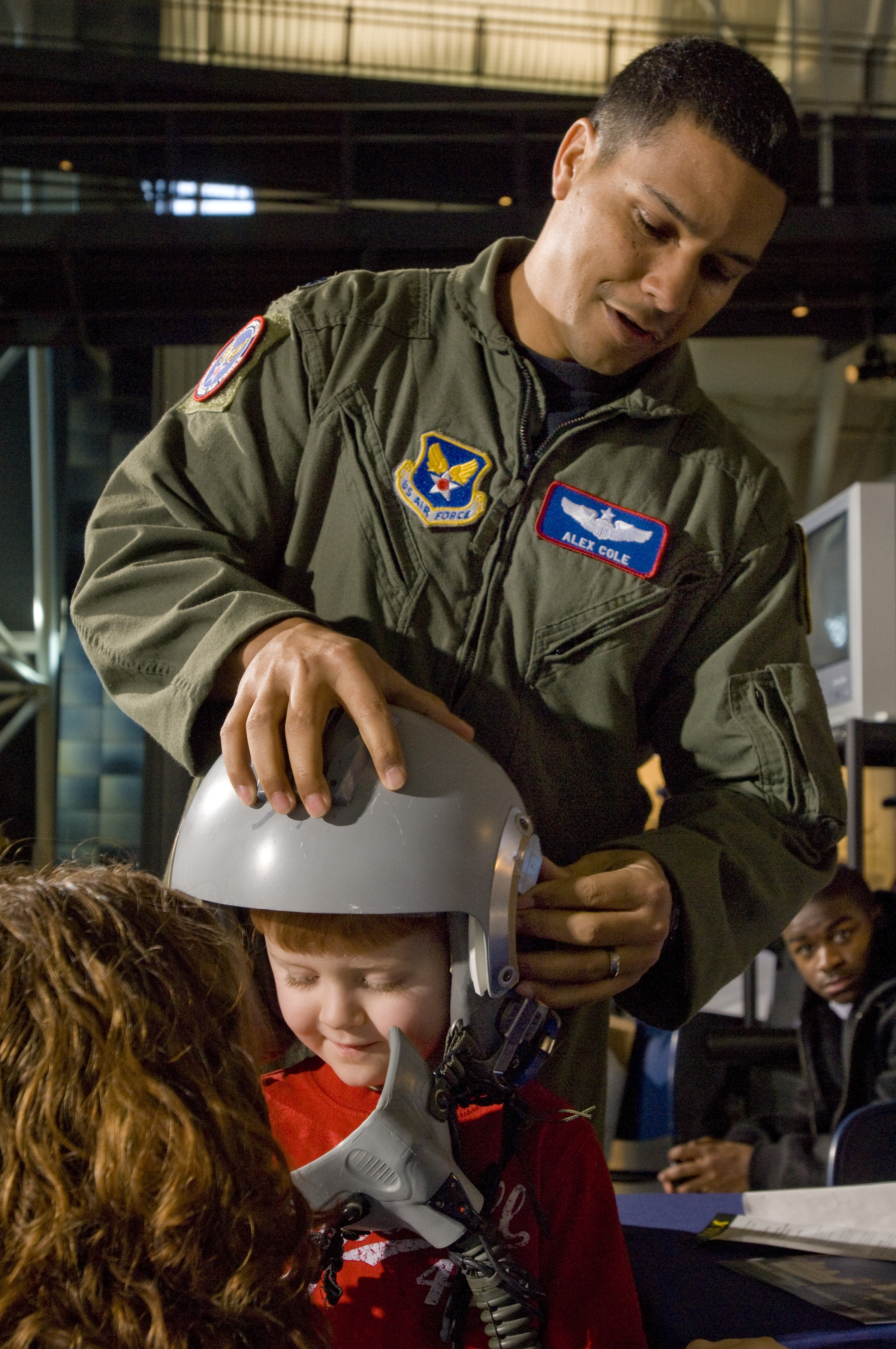 Young Visitor at the Annual Become A Pilot Day