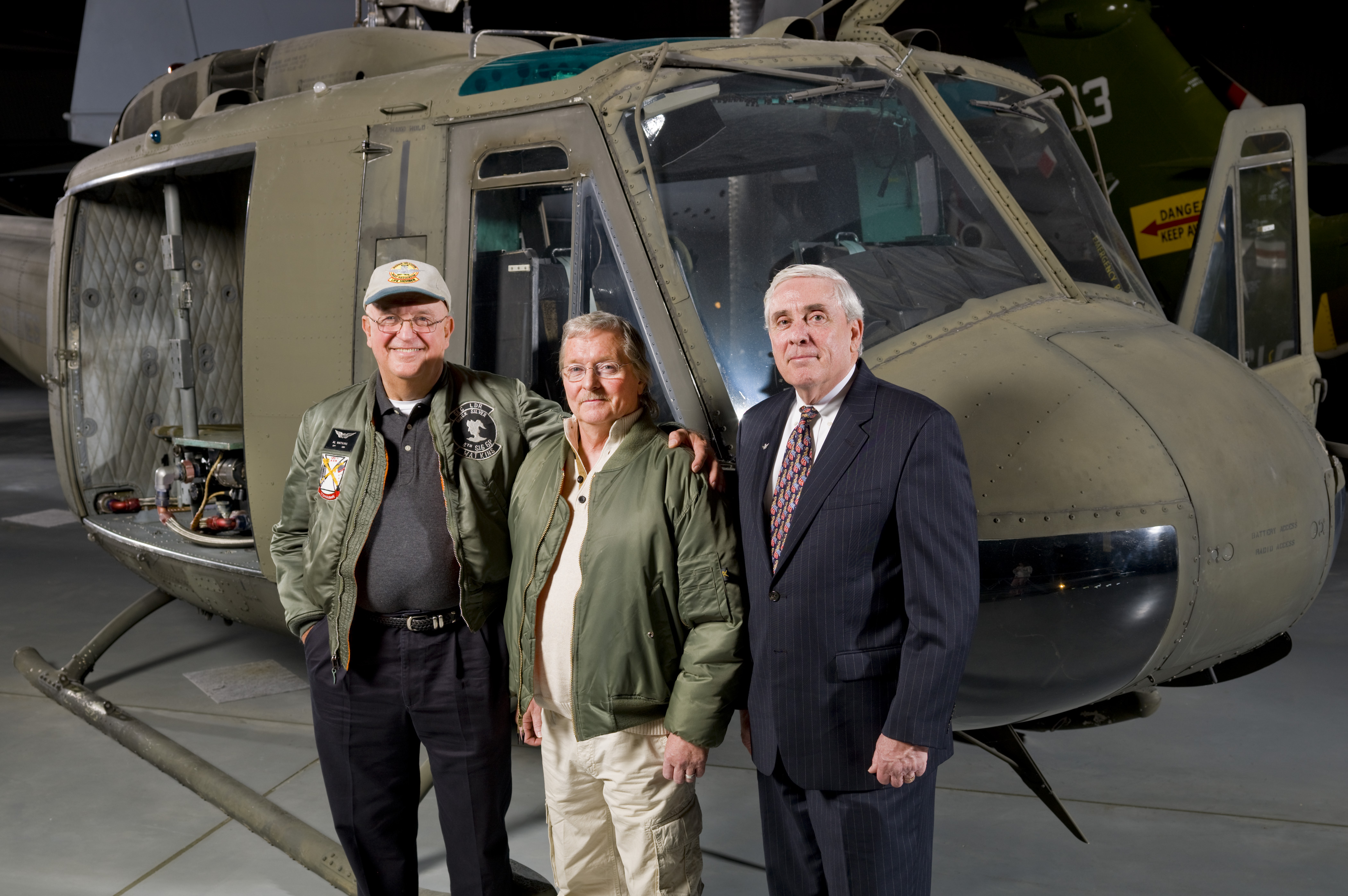 Special Visitors to Bell UH-1H Iroquois