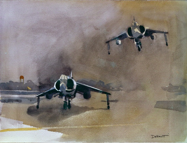 Harriers, a Pair in Fly Marines!