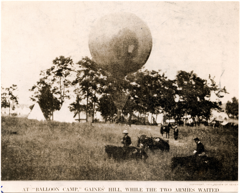 Thaddeus Lowe at the Battle of Fair Oaks