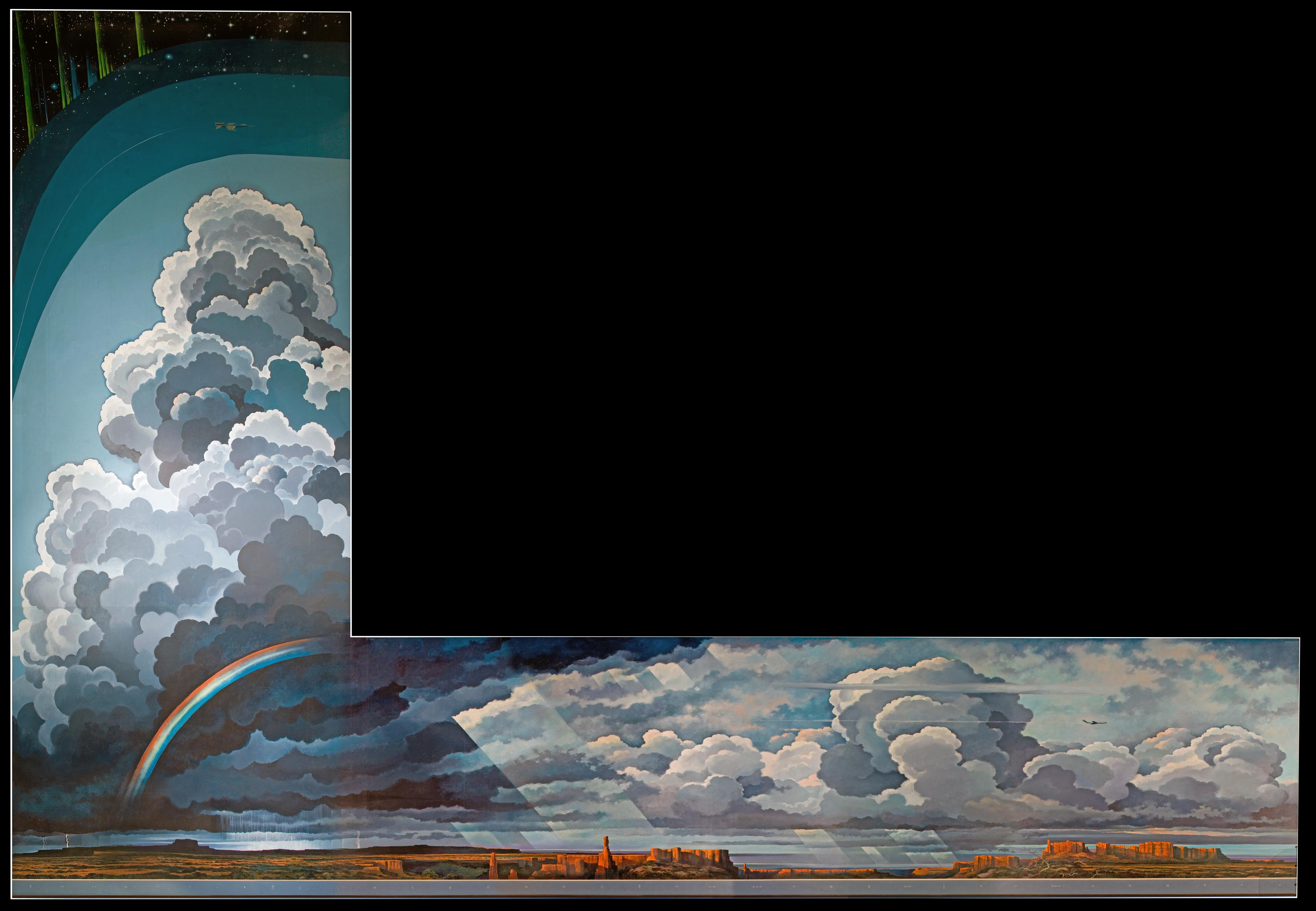 Eric Sloane's Earth Flight Environment Mural