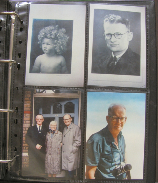 Portraits of Arthur C. Clarke's family through the years
