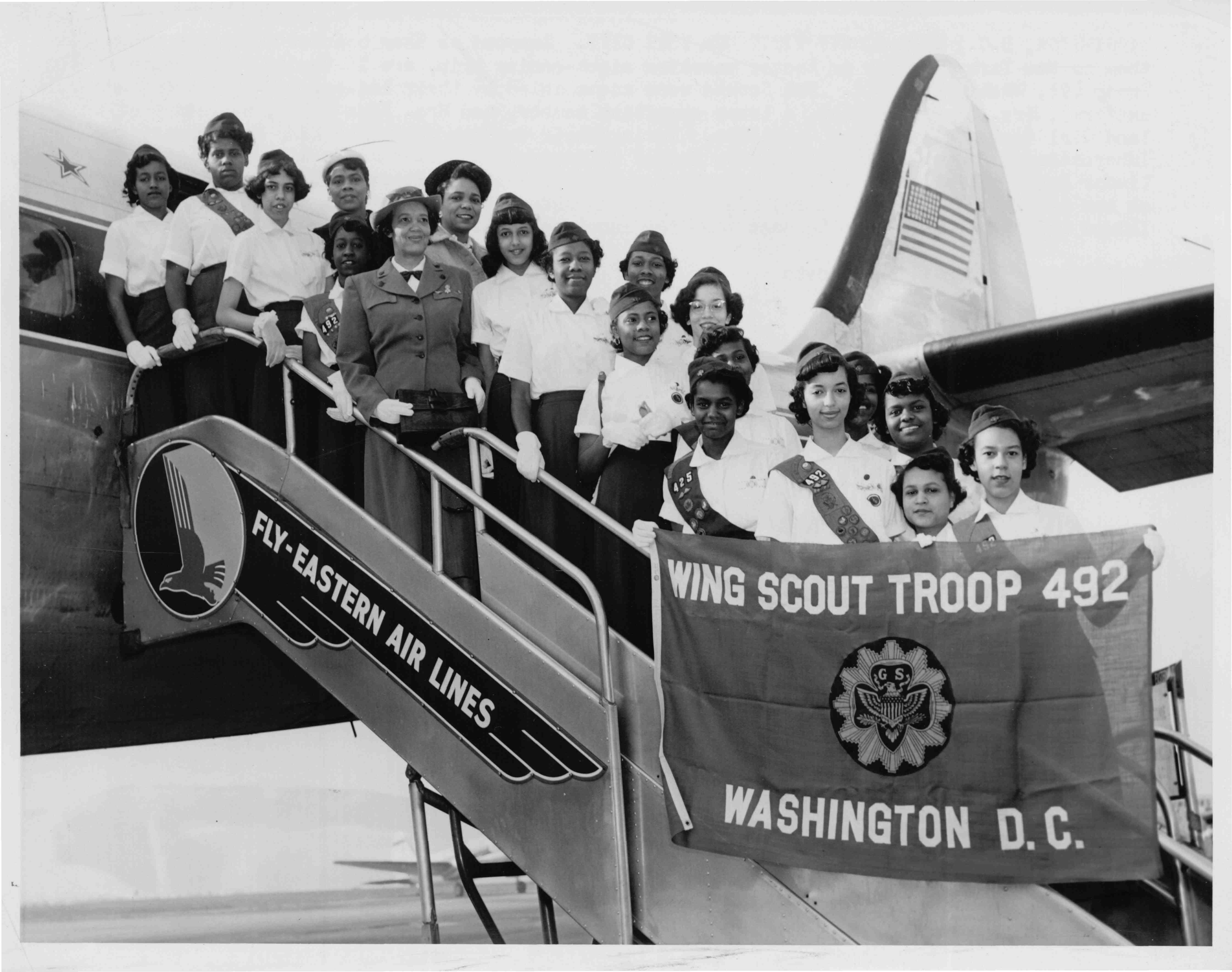 Wing Scouts Boarding Airplane-1881
