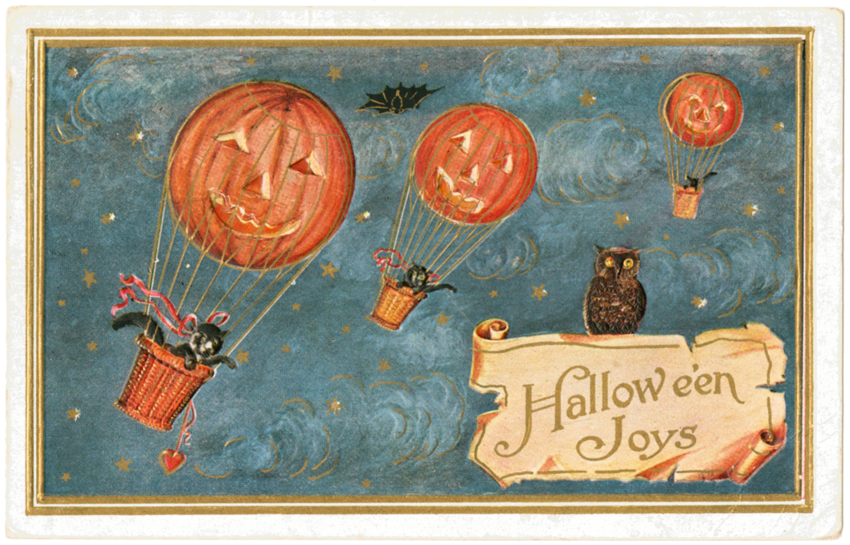 Vintage Halloween-Postkarte jigsaw