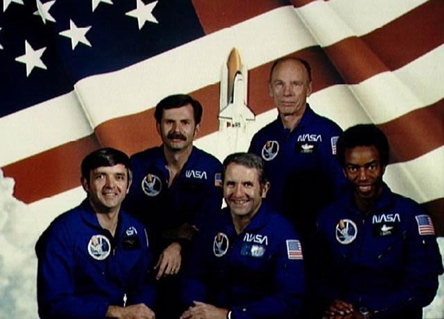 Official STS-8 crew portrait