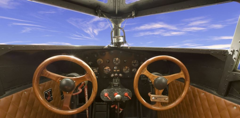 Panoramic photograph of Ford 5-AT Tri-Motor