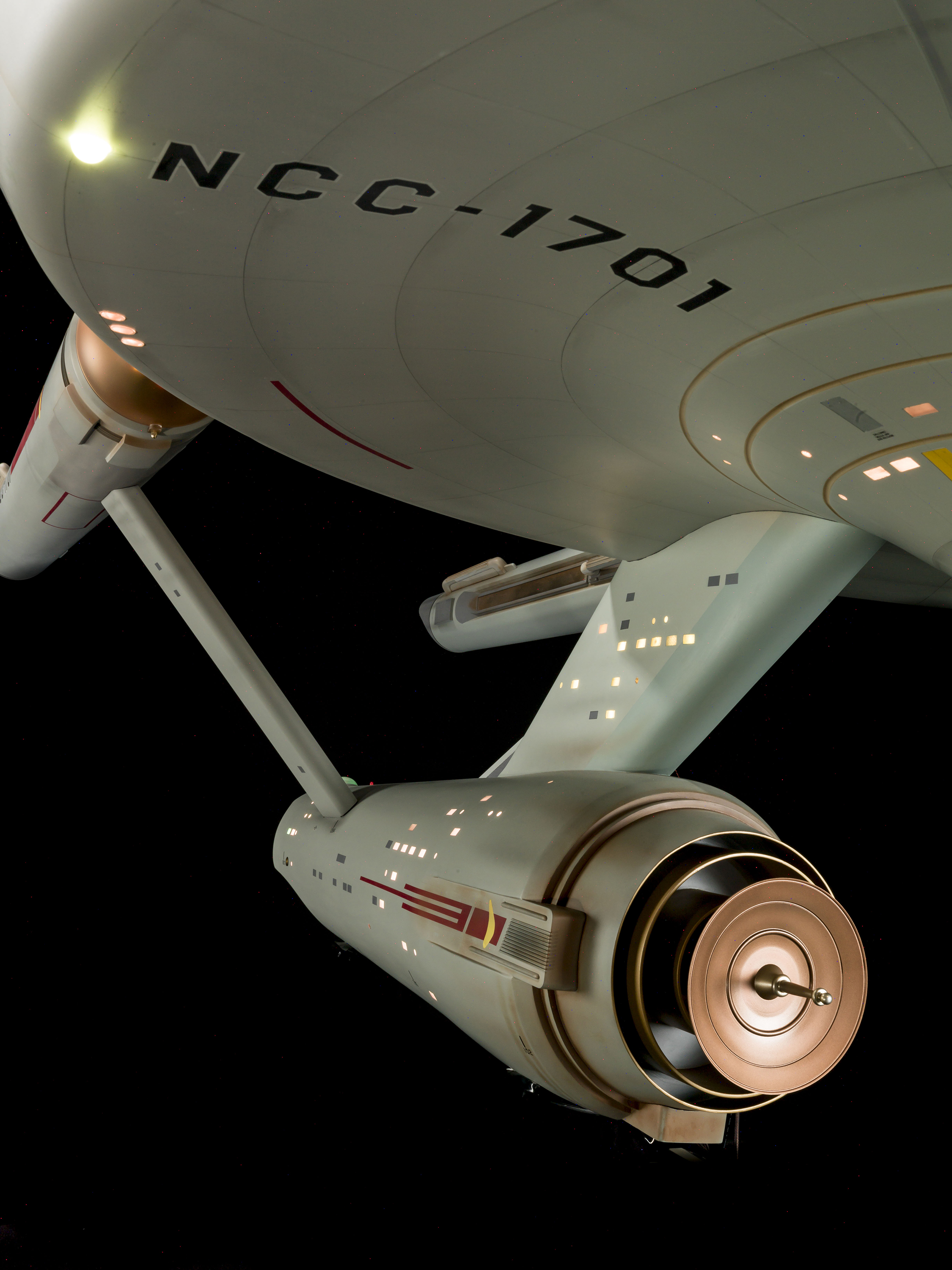 Enterprise against a black background.
