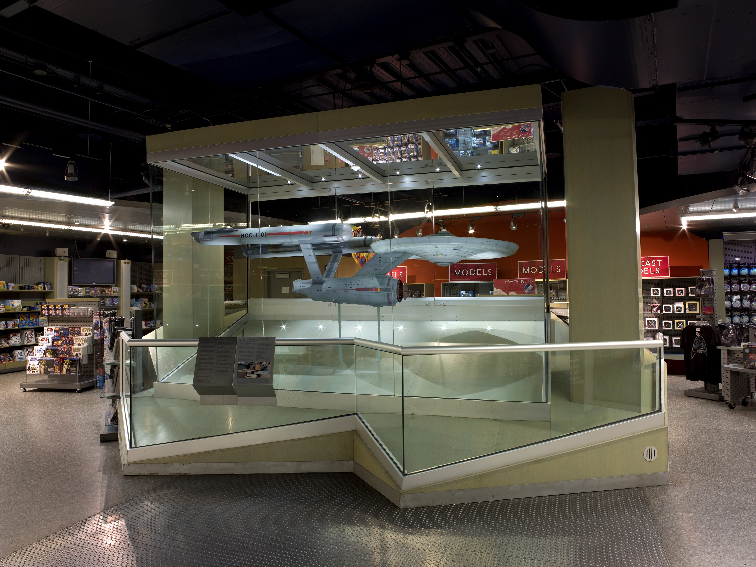 Star Trek Starship Enterprise Model on display in the Museum Shop