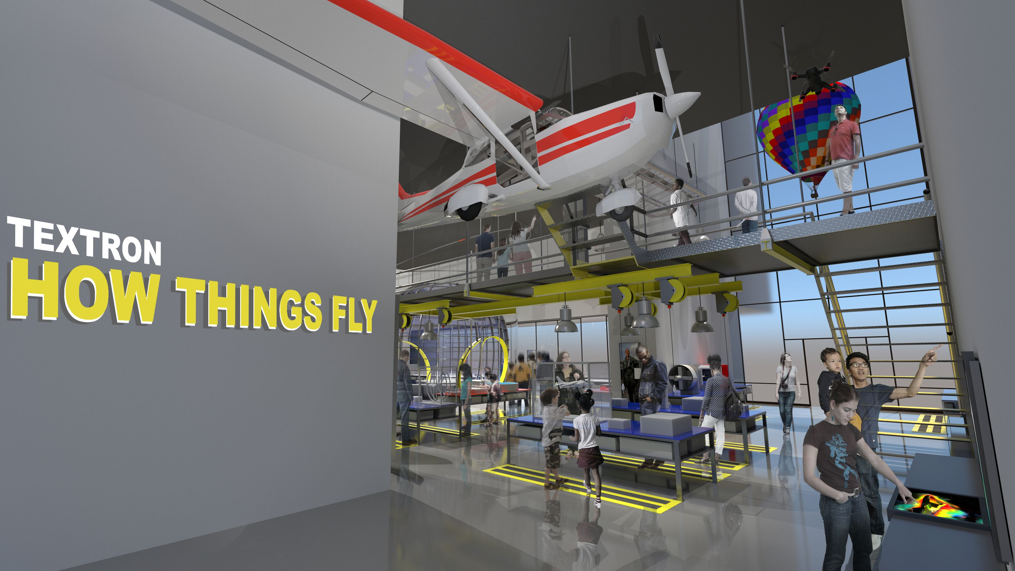 """Rendering of """"Textron How Things Fly Gallery"""""""