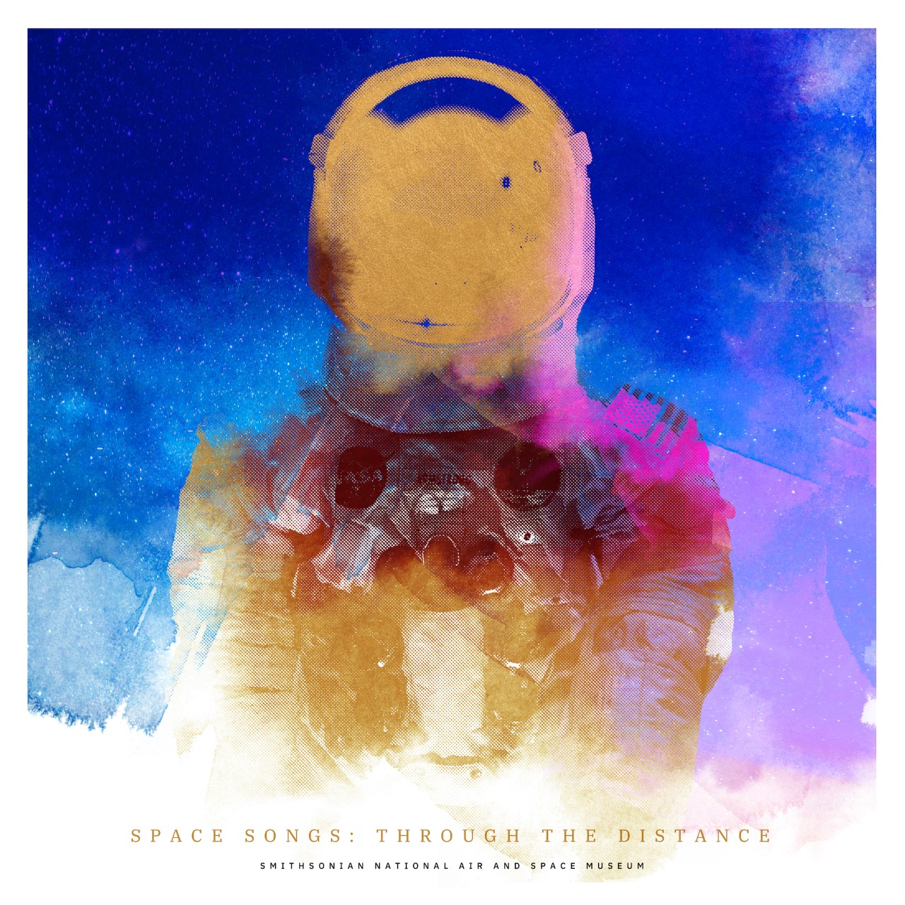artistic spacesuit poster
