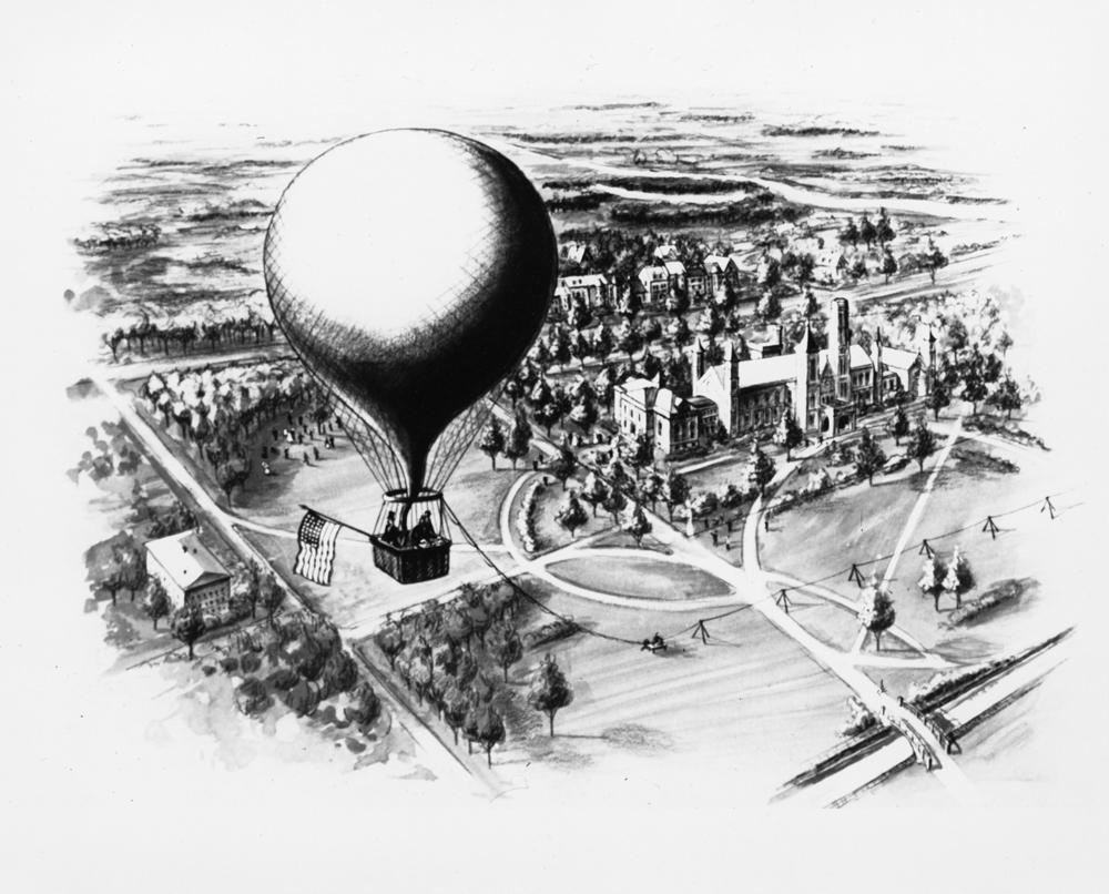 Illustration of Thaddeus Lowe