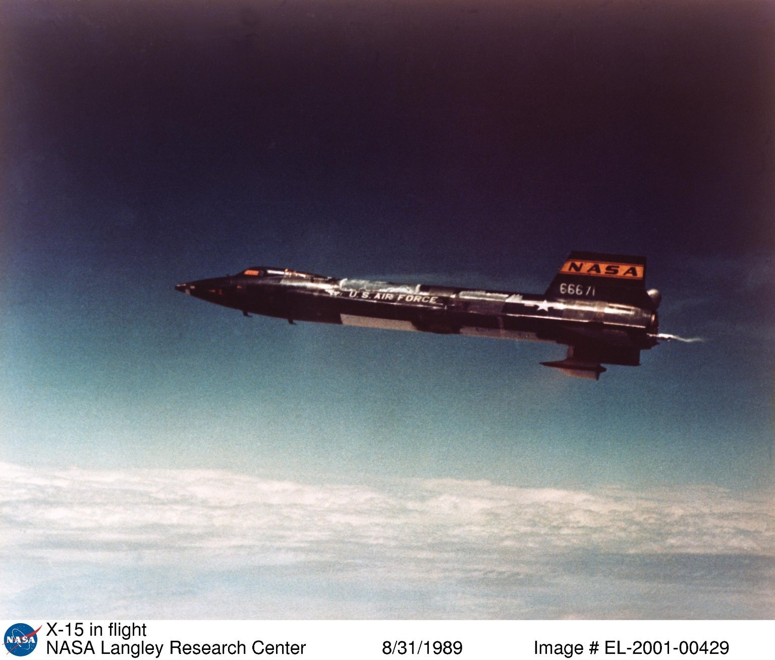 North American X-15 in Flight