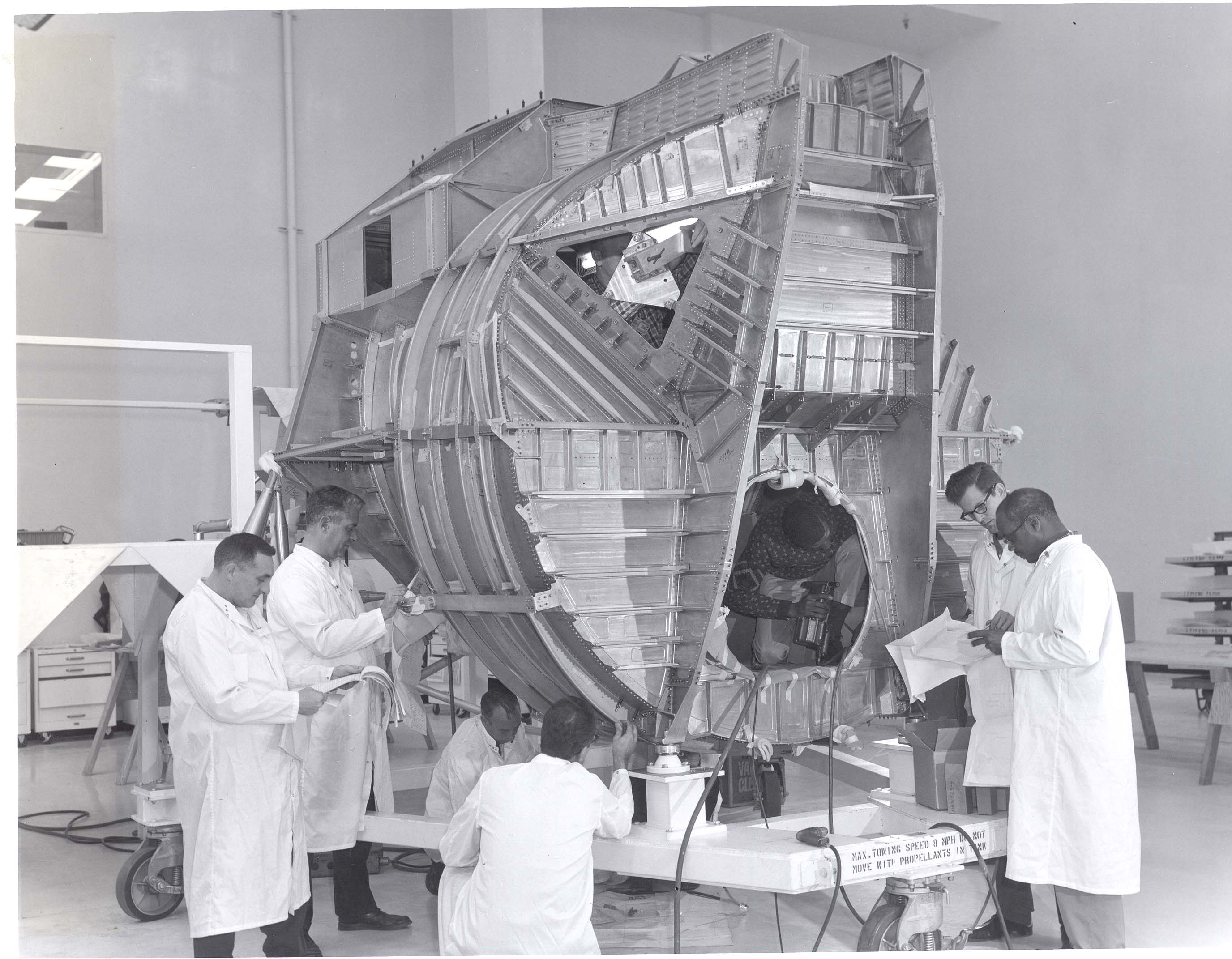 Grumman Technicians Working on the Lunar Module in Bethpage, Long Island, New York