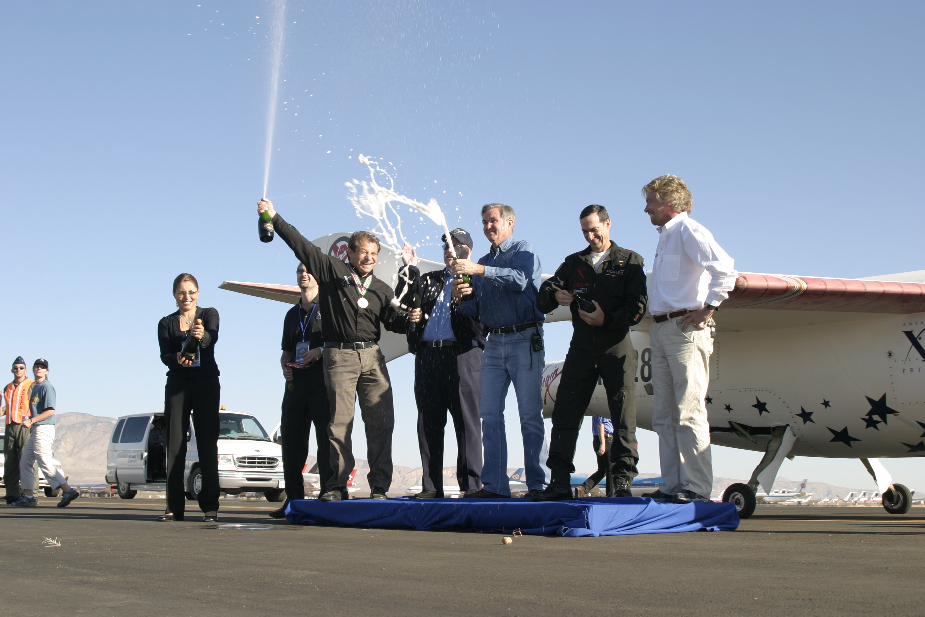 SpaceShipOne Team Winning the X-Prize