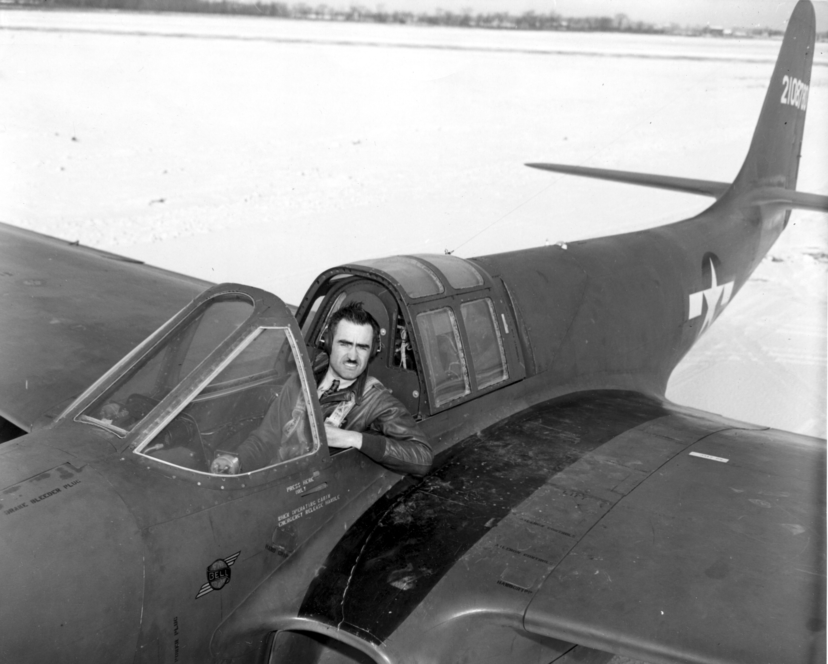 Robert M. Stanley in the Bell XP-59A Airacomet