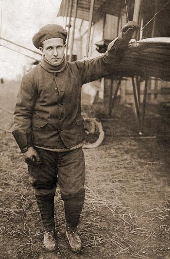 Peruvian aviator and engineer Jorge Chavez.