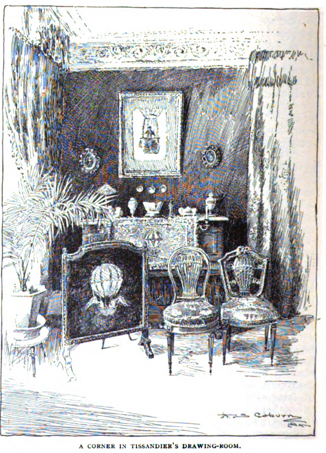 An illustration of Gaston Tissandier apartment, from McClure's Magazine