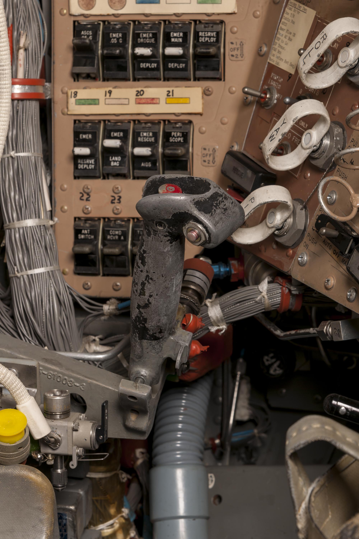 Interior of spacecraft.