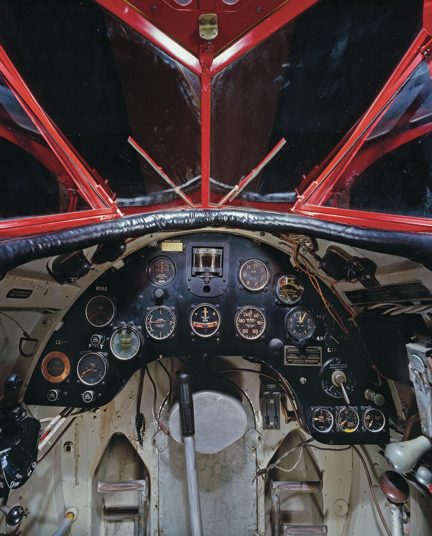 Interior view of the Lockheed Vega.
