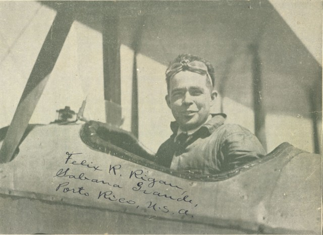 Felix Rigau Carrera, the first Hispanic fighter pilot in the United States Marines.