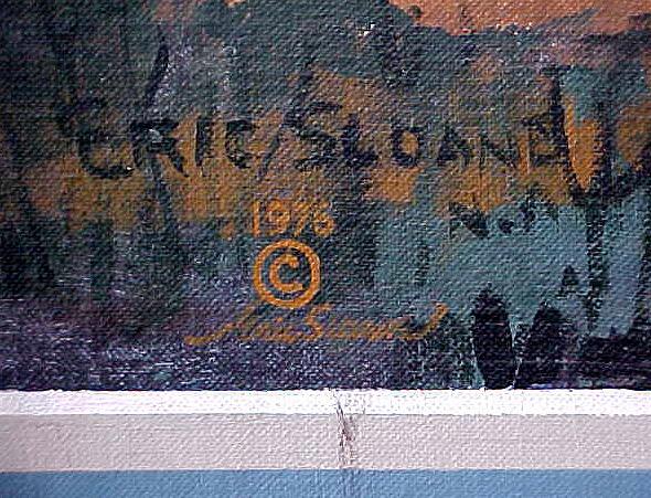 Eric Sloane Signature on Mural