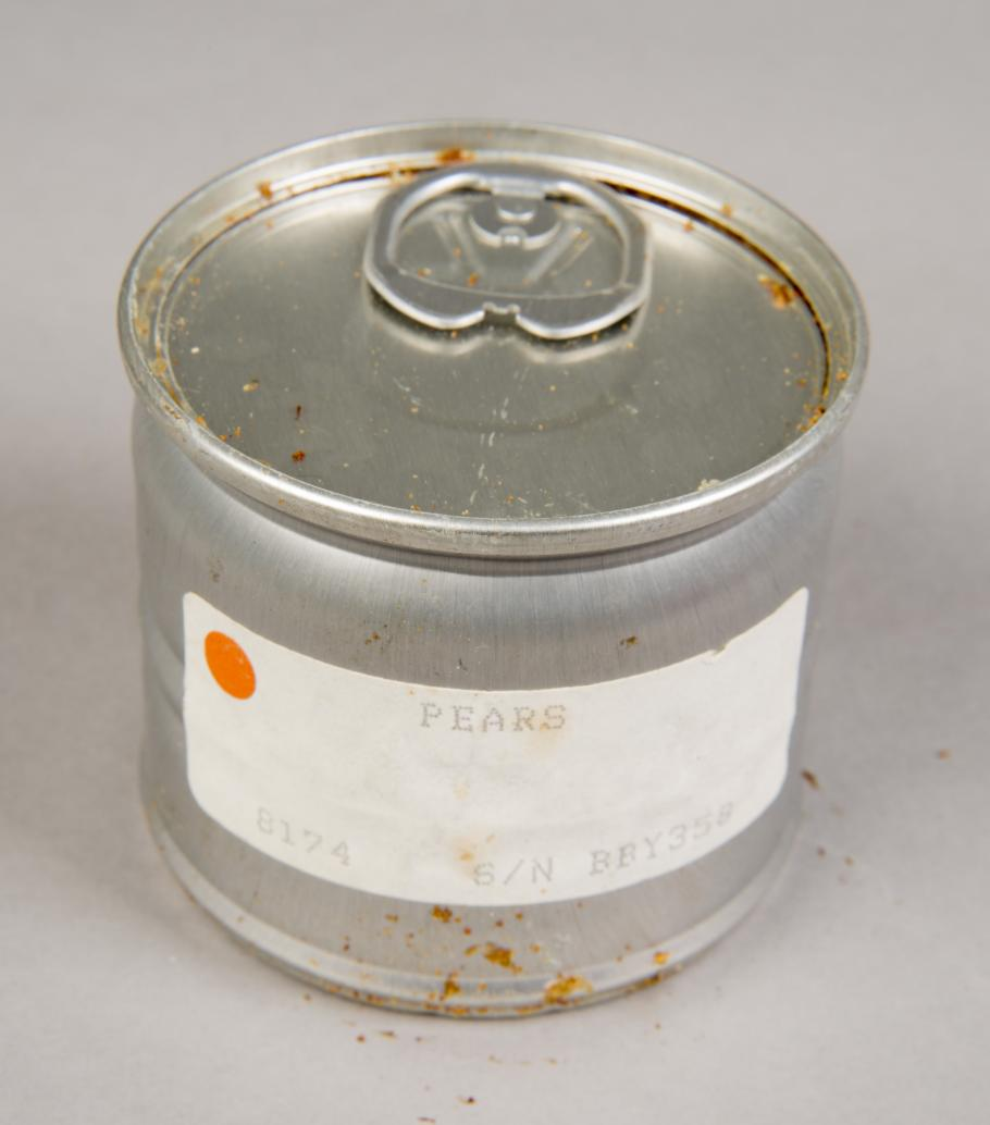 Can of pears from STS-27