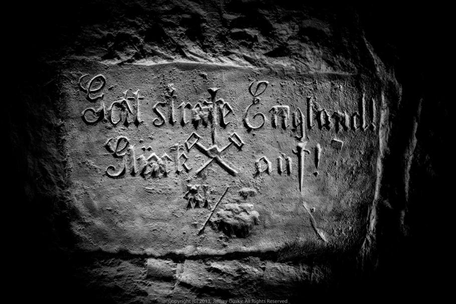 Carving on stone engraving