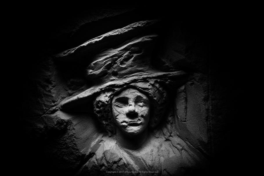Woman's portrait on stone