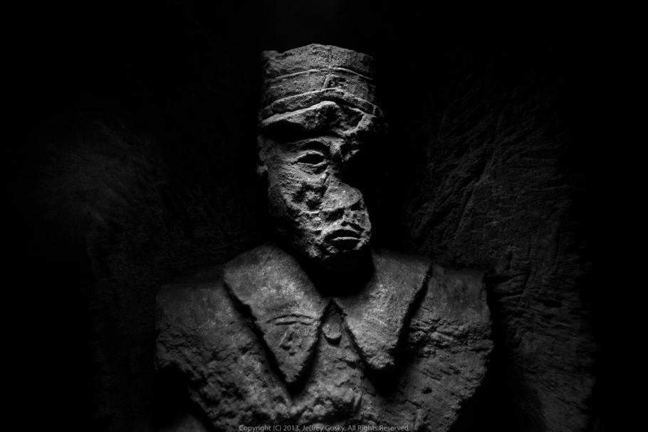 Portrait in stone.