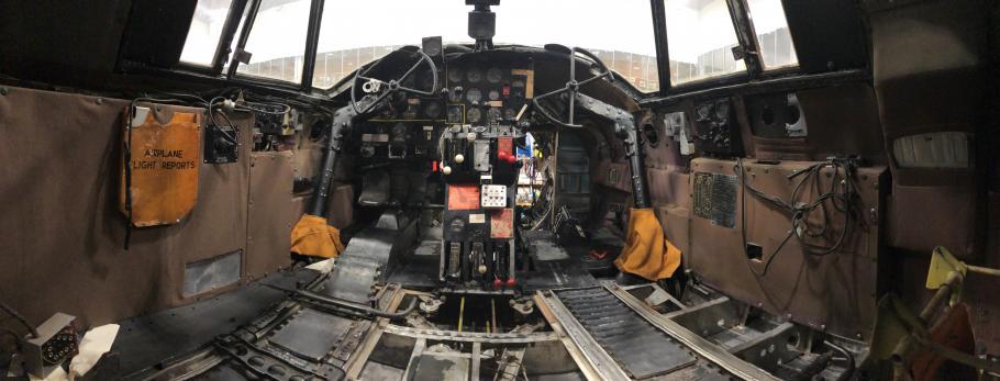 Inside of cockpit