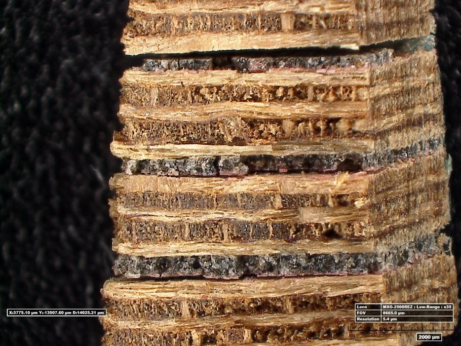 Cross Section Showing Adhesives