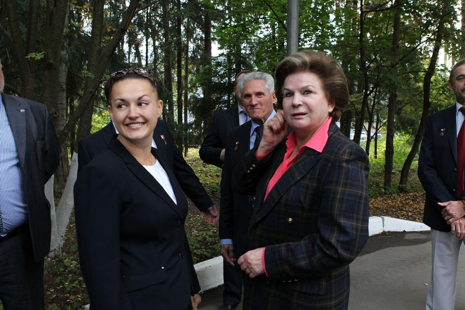 Cosmonauts Serova and Tereshkova