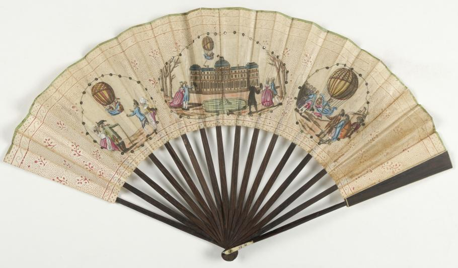 Decorative Fan With First Hydrogen Balloon