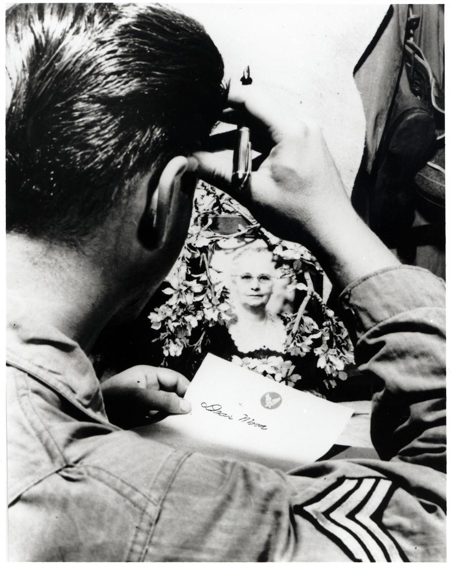 Sgt. Edmund C. Kock Writes a Letter Home