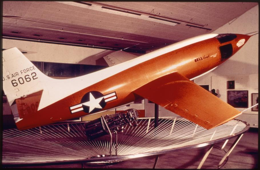 Bell X-1 With White and Orange Paint Scheme