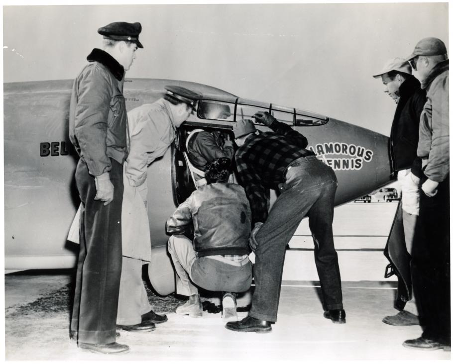 Yeager in the Cockpit of the Bell X-1