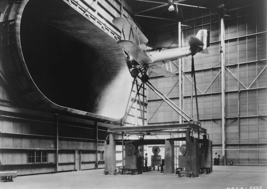 Vought O3U-1 in Langley Full Scale Wind Tunnel