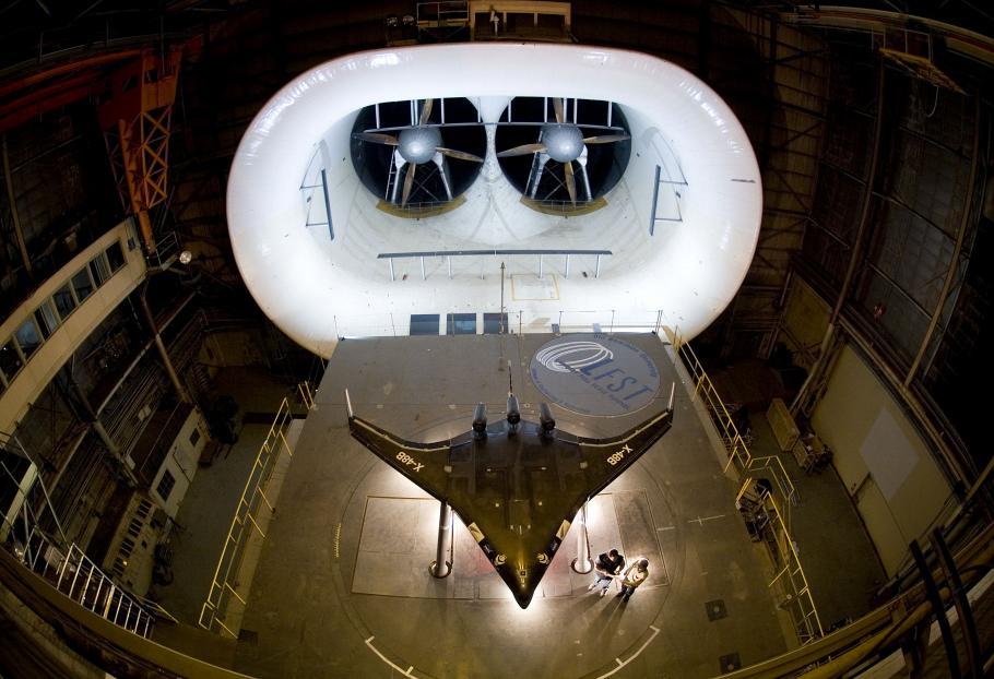 Boeing X-48 in Full Scale Wind Tunnel