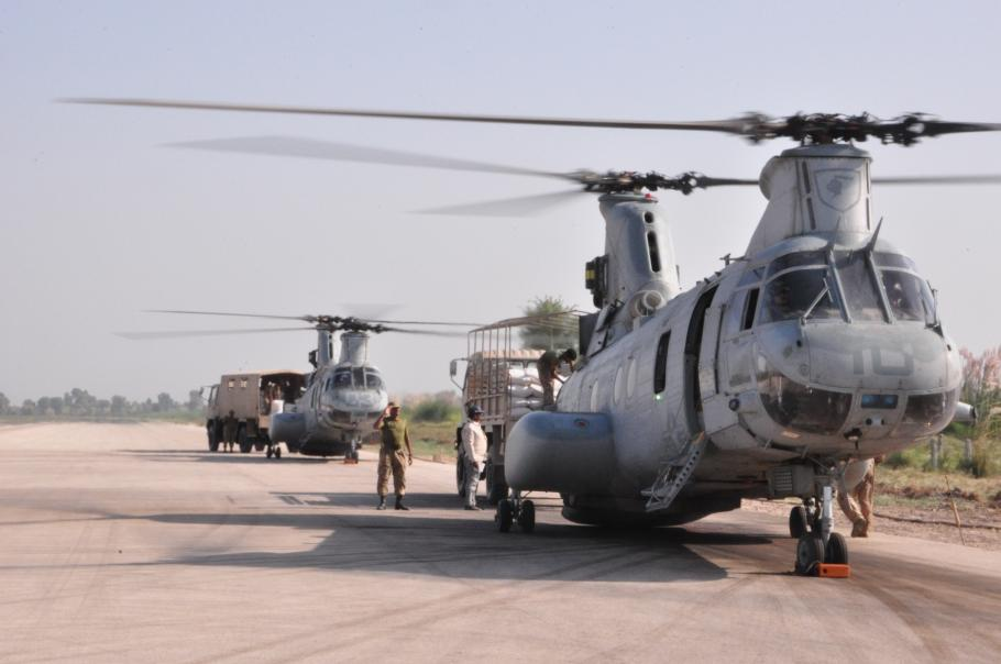 Sea Knights Readied for Disaster Aid Mission